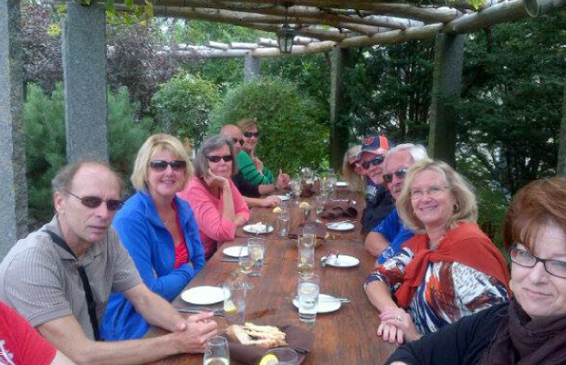 Lunch in a Vineyard in Halifax, Nova Scotia