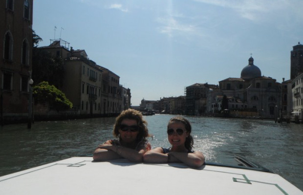Pam & Cait on-the Grand Canal in Venice