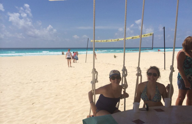 On the Swings in Cancun