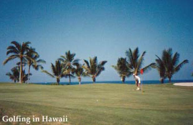 Golfing in Kapalua