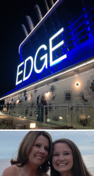 Pam and Caitlin on Celebrity Edge Inaugural Sailing